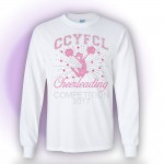 CCYFCL 2017 White Cheer & Pom Rhinestone long sleeve t-shirt