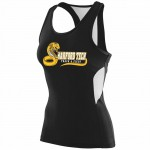 Harford Tech Track & Field 100% polyester black performance tank top