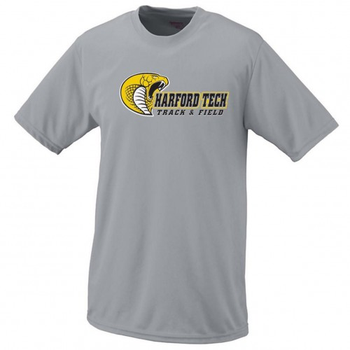 Harford Tech Track & Field gray performance tee