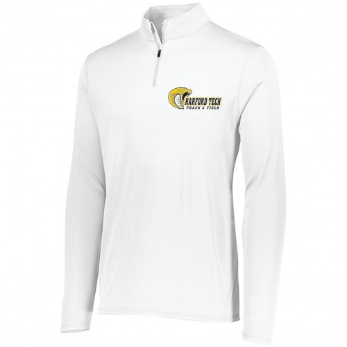 Harford Tech Track and Field MENS WHITE quarter zip pullover
