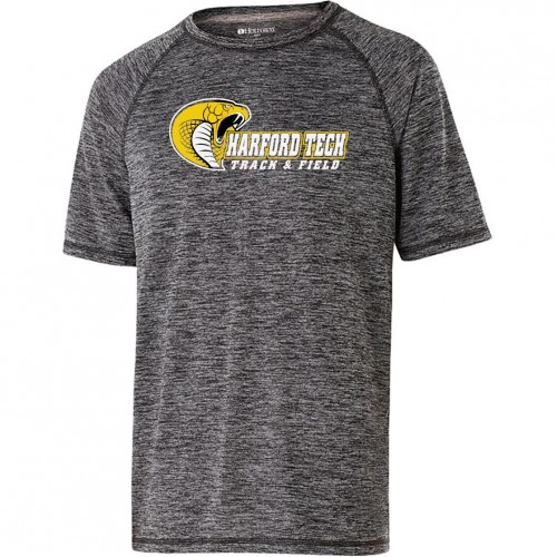 Harford Tech Track and Field 100% polyester Electrify performance tee