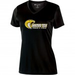 Harford Tech Track & Field 100% polyester black performance v-neck