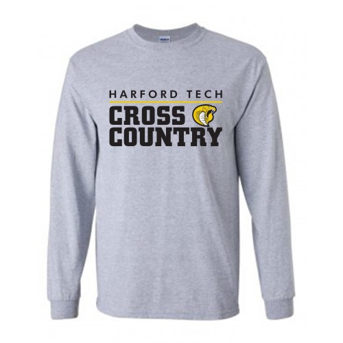 Harford Tech Cross Country long sleeve Black tee