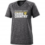Harford Tech 100% polyester gray/white space print performance tee