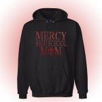 Mercy Hooded Sweatshirt with custom Mercy MOM Rhinestone design