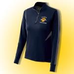 Fallston Cheerleading  Ladies 100% polyester navy/carbon gray 1/4 zip training pullover