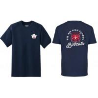 Bel Air cheerleading Bobcat tee (front & back)