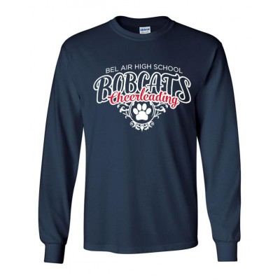 Bel Air Cheerleading Paw long sleeve tee