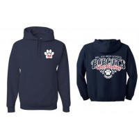 Bel Air cheerleading Paw Hooded sweatshirt ( front & back)