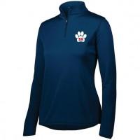 Bel Air Cheerleading Ladies quarter Zip pullover (navy)