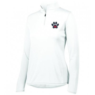 Bel Air Cheerleading Ladies quarter Zip pullover ( white)
