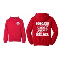 "Bel Air Cheerleading ""You know the name"" red hooded sweatshirt"