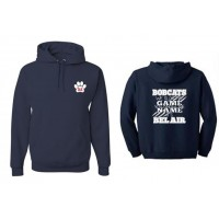 "Bel Air Cheerleading ""You know the name"" navy hooded sweatshirt"
