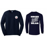 """Bel Air Cheerleading """"You know the name"""" long sleeve navy tee"""