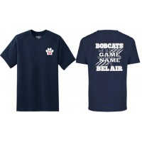 """Bel Air Cheerleading """"You know the name"""" navy t-shirt"""