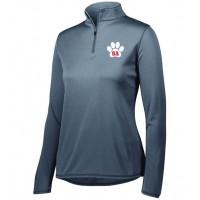 Bel Air Cheerleading Ladies quarter Zip pullover ( gray)