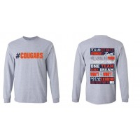 Cougar's Collage Long Sleeve Tee