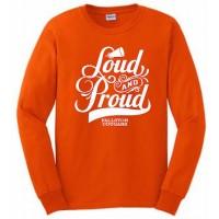 Cougar's Loud and Proud  Long Sleeve orange tee