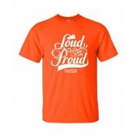 Cougar's Loud and Proud  short sleeve orange tee
