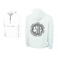 E-street Pack and Go quarter zip jacket white