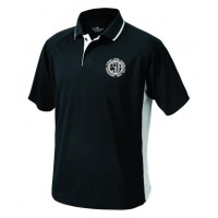 E-Street color block embroidered polo