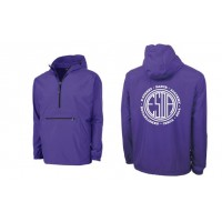 E-street Pack and Go quarter zip jacket purple