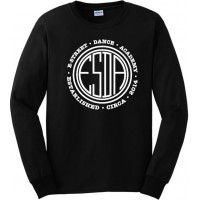 E-Street circle logo long sleeve t-shirt black