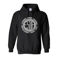 E-Street circle logo hooded sweatshirt black