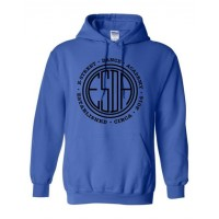 E-Street circle logo hooded sweatshirt royal