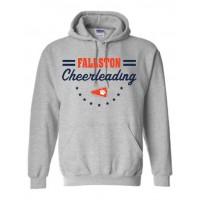 Cougar Cheer Stars Hooded Sweatshirt gray