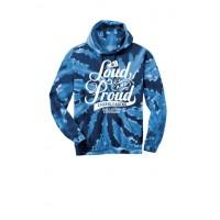 Cougar's Loud and Proud Tie dye hoody Navy
