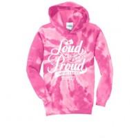 Cougar's Loud and Proud Tie dye hoody Pink