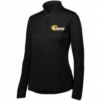 Harford Tech Ladies track & Field quarter Zip pullover ( black)