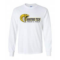 Harford Tech Track & Field long sleeve white tee