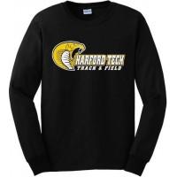 Harford Tech Track & Field long sleeve black tee