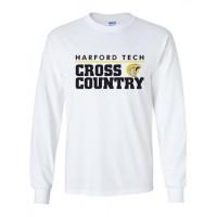 Harford Tech Cross Country  long sleeve t-shirt white