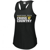 Harford Tech Cross Country T-Back tank top white