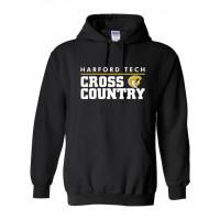Harford Tech Cross Country hooded sweatshirt Black