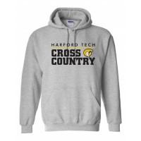 Harford Tech Cross Country hooded sweatshirt gray