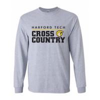Harford Tech Cross Country  long sleeve t-shirt gray
