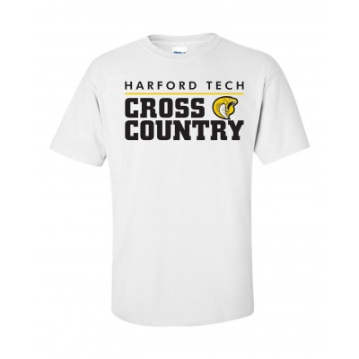 Harford Tech Cross Country Tee white