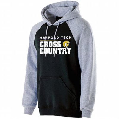 Harford Tech Cross Country two tone Premium Fleece Hoody