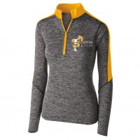 Harford Tech Ladies Class of 2020  gray and gold electrify Zip pullover