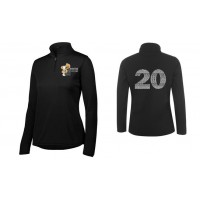 Harford Tech Ladies Class of 2020 quarter Zip pullover ( black)
