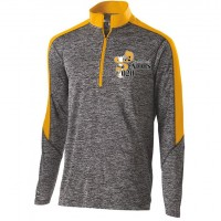 Harford Tech Mens Class of 2020 quarter Zip pullover gray and gold