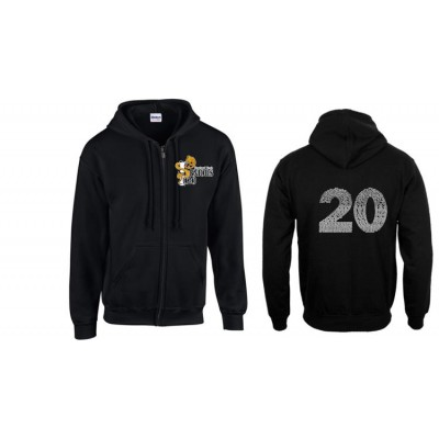 Harford Tech Class of 2020 full zip hooded black sweatshirt