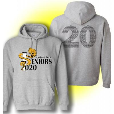 Harford Tech Class of 2020 hooded gray sweatshirt