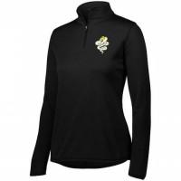 Harford Tech Graphics Ladies quarter Zip pullover ( black)