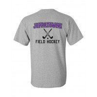 Joppatowne Field hockey tee gray ( front and back)