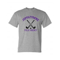 Joppatowne Field hockey tee gray ( front only)